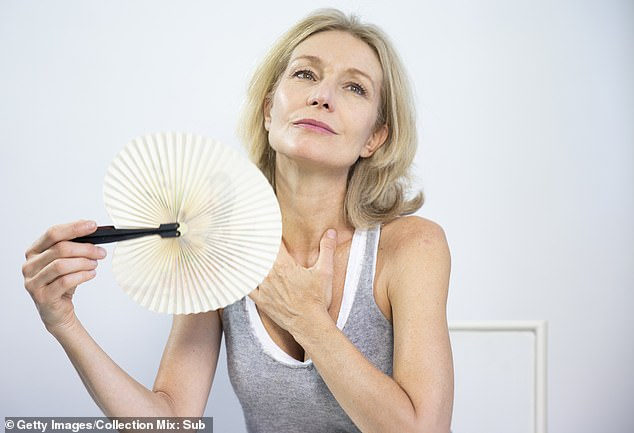 There are also alternatives to HRT that may be able to control the sweating, such as clonidine tablets.Alternatively, it is possible to be referred to a specialist menopause clinic (file photo)