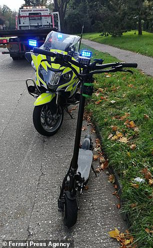 The rider had no insurance and was only wearing a flimsy cycle helmet