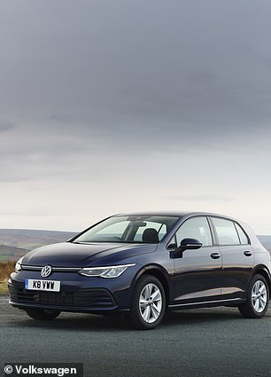 This is the current entry-level Volkswagen Golf Life. The1.0-litre petrol with 109bhp and a 6-speed manual transmission costs from £23,300