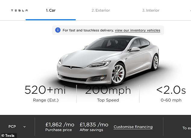 Tesla's 520-mile (and 200mph) electric family car for 2021: Britons can already order the Model S Plaid on the firm's UK website. It's not cheap, with an asking price of £131,000