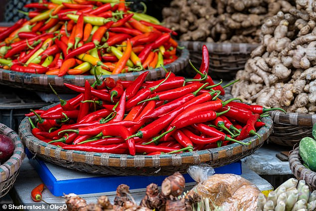 The 'quite remarkable' findings came after the team analysed the heath and dietary records of more than 570,000 people across the globe. However, the researchers noted that further studies will be needed to establish which varieties of chilli confer protection