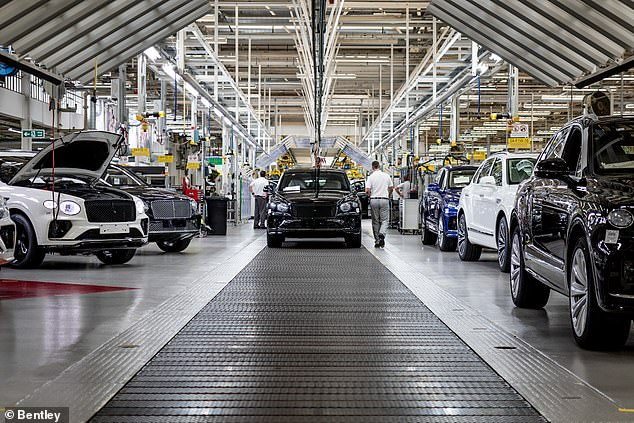 Bentley's Crewe factory won't look like this in 2030. It will be producing entirely electric cars in 9 years, the brand says