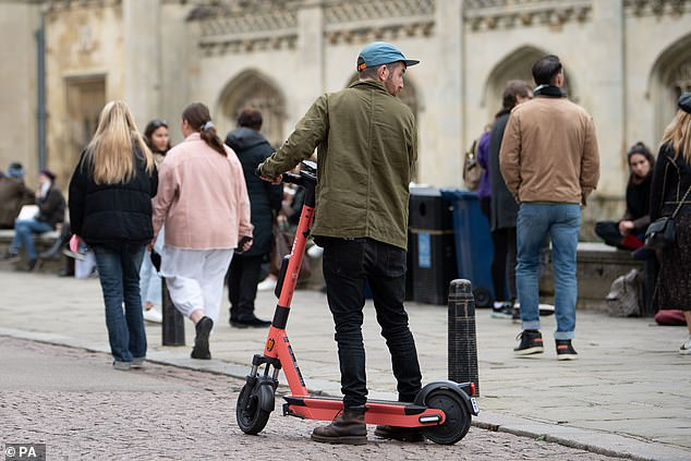 Residents and visitors Cambridge can now hire one of the 50 E-scooters which are being trialled for a year