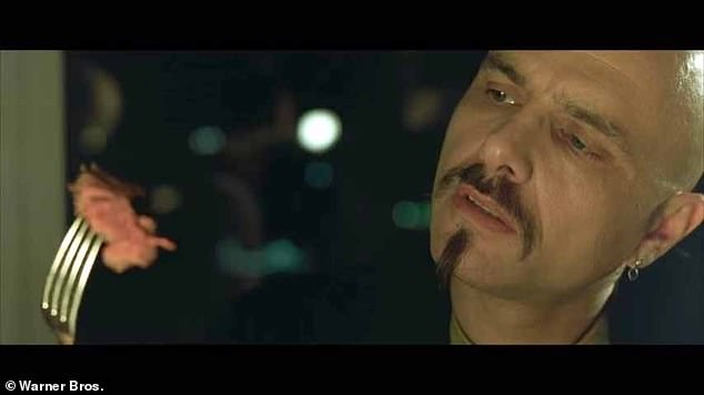 Cypher (Joe Pantoliano) eats steak and drinks red wine in the Matrix, another film in the 250-strong study sample