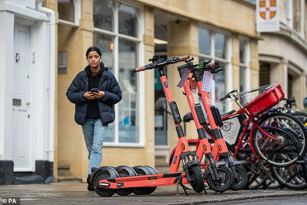 There are numerous schemes for rental e-scooters in the UK. This includes the Voi E-scooter trial in Cambridge