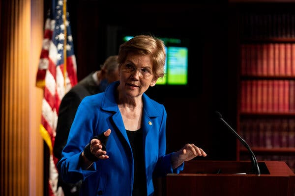 """Senator Elizabeth Warren of Massachusetts in September. She said on Tuesday that she was """"very worried about the transition process."""""""