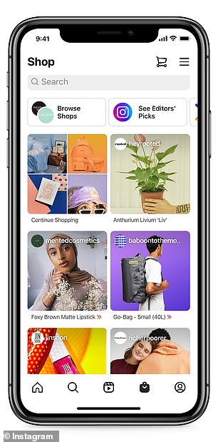 The new Shop tab is to boost shopping in the app, as the firm also takes a percentage of each purchase made from such content