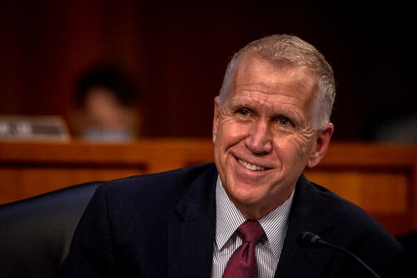 Senator Thom Tillis, Republican of North Carolina, appeared headed for a narrow victory in the key swing state.