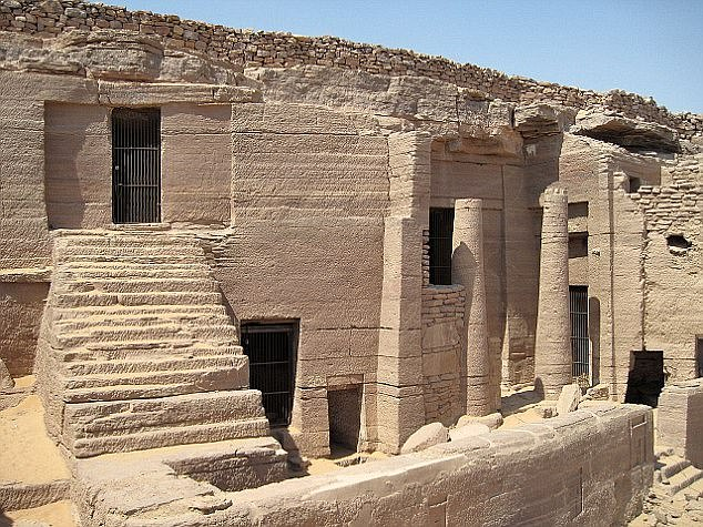 The 3,800 year old mummy was found in the necropolis of Qubbet el-Hawa (pictured) in southeastern Egypt