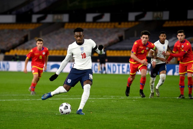 Chelsea star Callum Hudson-Odoi scores from the penalty spot in England U21s' win over Andorra