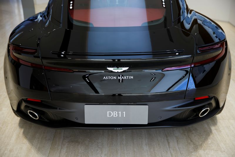 © Reuters. Aston Martin luxury sports car is on display at a dealership in Beijing