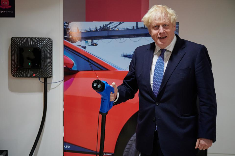 PM Boris Johnson Visits Octopus Energy To Promote 'Green Jobs' And Innovation