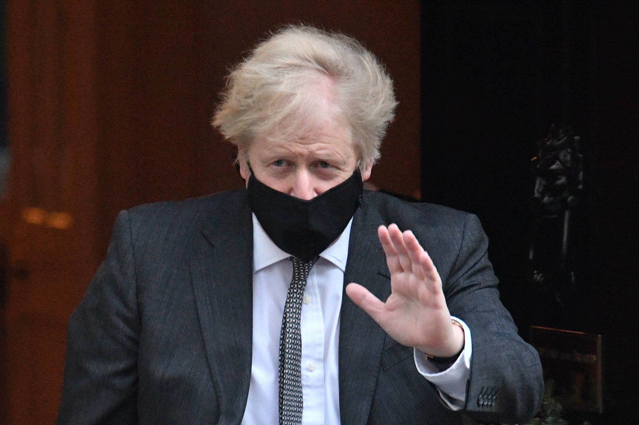 <p>Prime Minister Boris Johnson leaves Downing Street, London, for the debate in the House of Commons on the EU.</p>