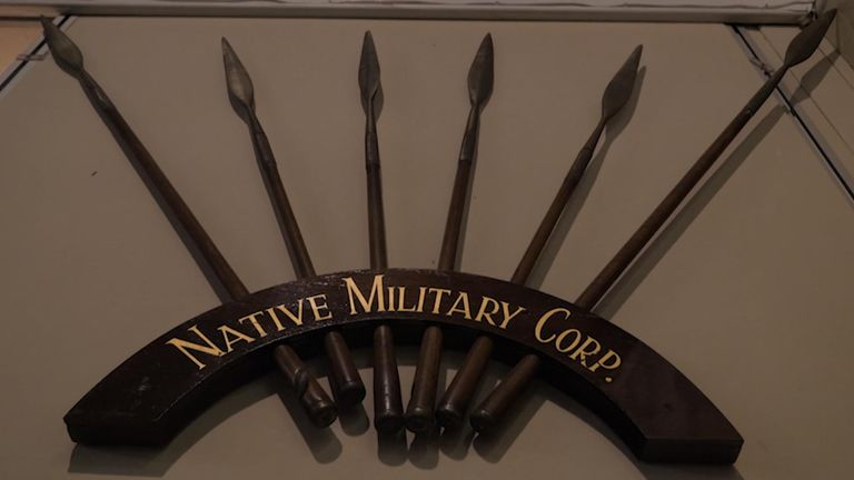 Black soldiers in the Native Military Corp were not allowed to serve on the frontline