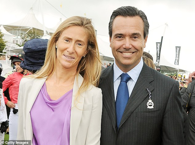 AntonioHorta-Osorio (pictured with wife Ana) was widely credited with returning Lloyds to private ownership nine years after its £20.3bn bailout in 2008