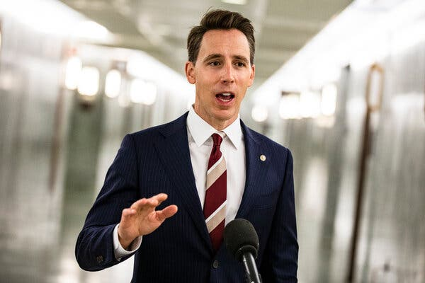 The planned objection by Senator Josh Hawley, Republican of Missouri, would almost certainly have no effect on the outcome of the election but could create a short delay in certifying the result.