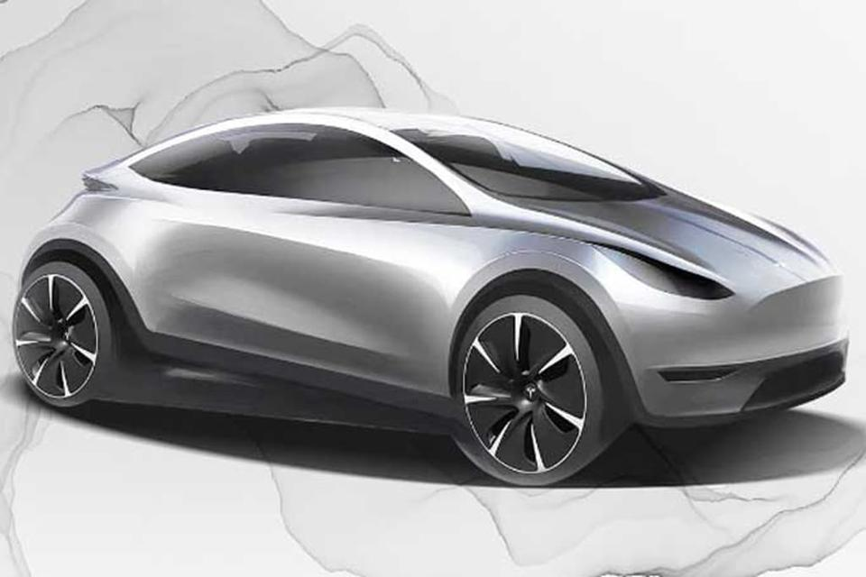 Tesla artist impress of future EV