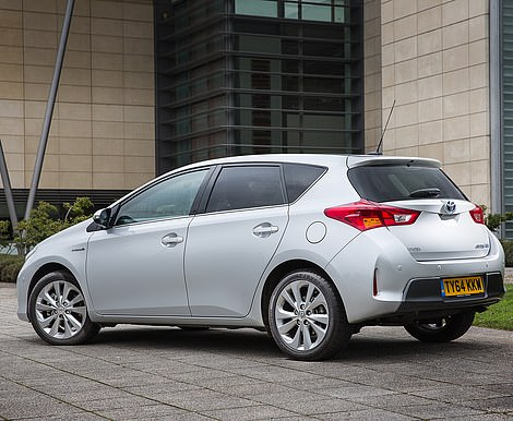 The Toyota Auris hybrid - the sister car to the Prius - has also been identified by Admiral as a prime target