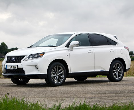 The Lexus RX hybrid SUV is another model that's often preyed on by thieves of catalytic converters