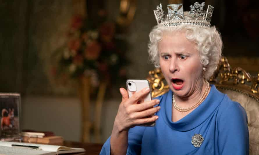 I've got a text! ... Tracey Ullman as the Queen.