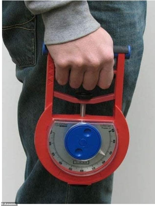 Hand grip measurement for the study was measured using the Smedley analogue hand dynamometer (pictured)