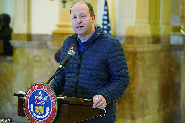 Colorado's governor made the announcement on Twitter on Tuesday