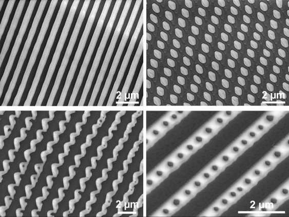 Patterns on surface of liquid metal