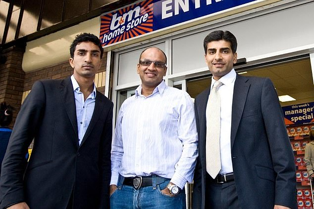 Brothers, let to right, Bobby, Robin, Simon Arora are behind the extraordinary rise of discount store B&M Bargains
