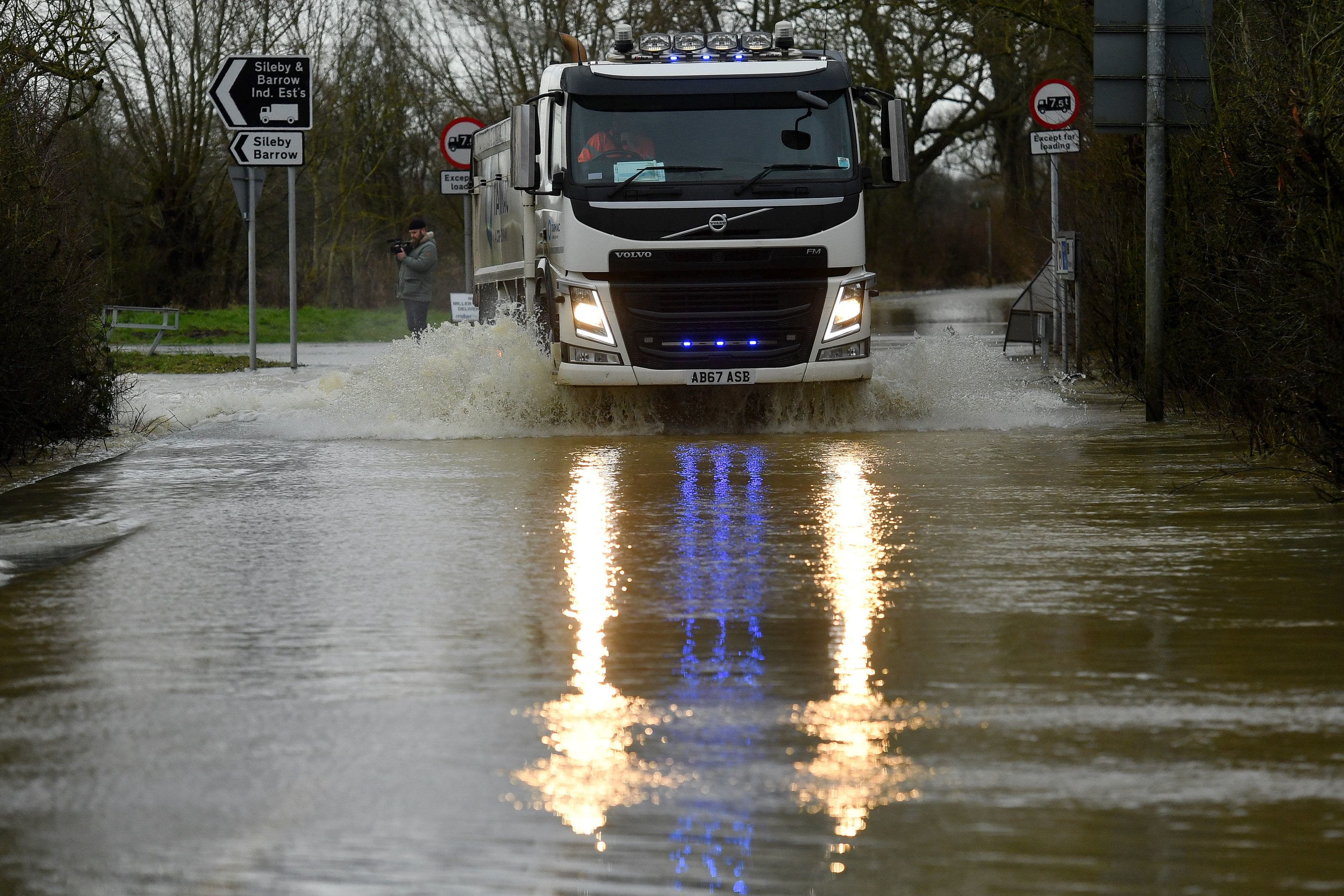 <p>The amber alert warns of the risk of flooding and deep floodwaters&nbsp;</p>