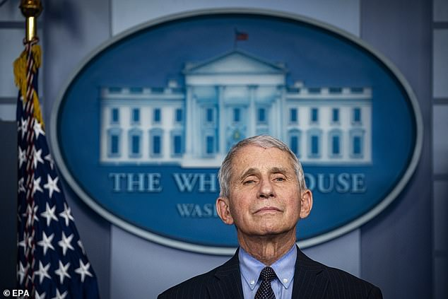 Dr Fauci warned during his first press briefing as an adviser to the Biden administration that the South African coronavirus variant is 'a little more concerning' because vaccines may be less effective against it - but said it hasn't been found in the US yet