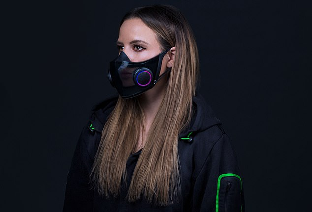 The surgical N95 respirator face mask is made of transparent plastic ¿ making it easier for people to lip read, it¿s reusable, and it even lights up in the dark