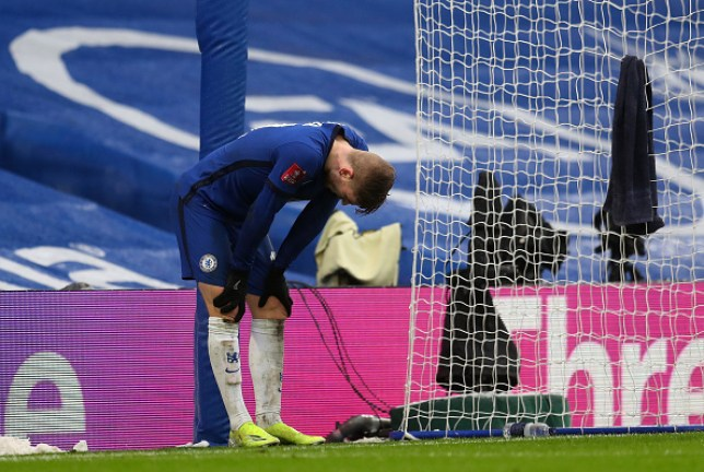 Timo Werner cuts a frustrated figure in Chelsea's FA Cup win over Luton Town