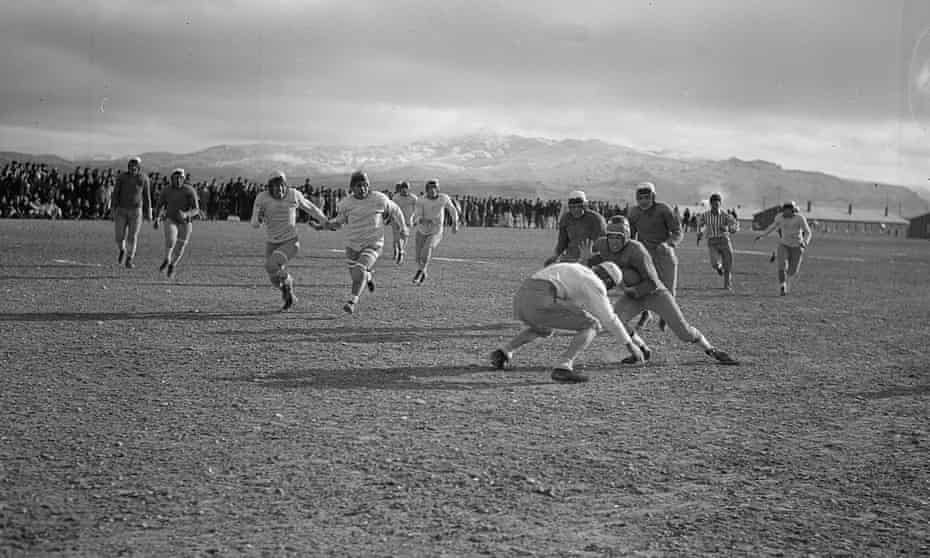 Winter games at the camp were played in frigid conditions
