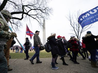Trump supporters gathered on the Washington Monument grounds Jan. 6 before an insurrectionist mob swarmed the U.S. Capitol.