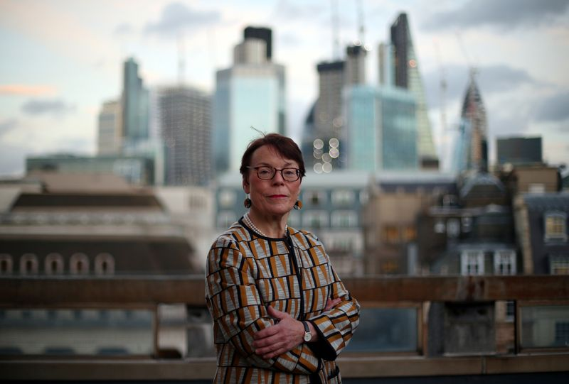 © Reuters. Catherine McGuinness, Chairman of the Policy and Resources Committee of the City of London Corporation, poses for a photograph in London
