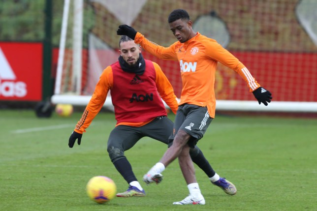 Amad Diallo has begun training with his new Manchester United team-mates