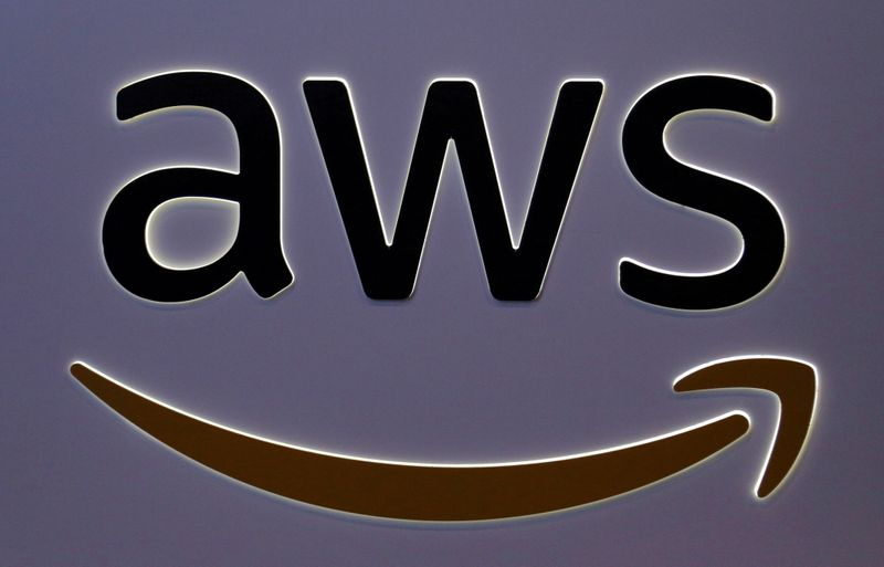 © Reuters. FILE PHOTO: The logo for Amazon Web Services (AWS) is seen in Toronto