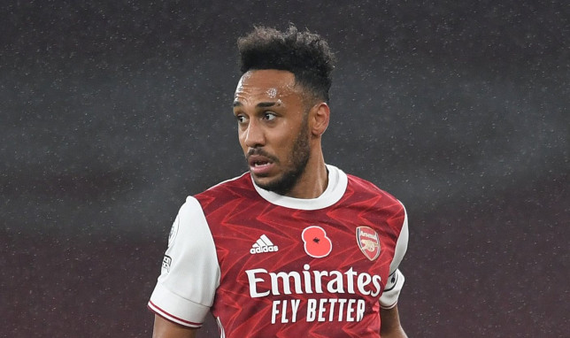 Pierre-Emerick Aubameyang will miss Arsenal's clash with Manchester United