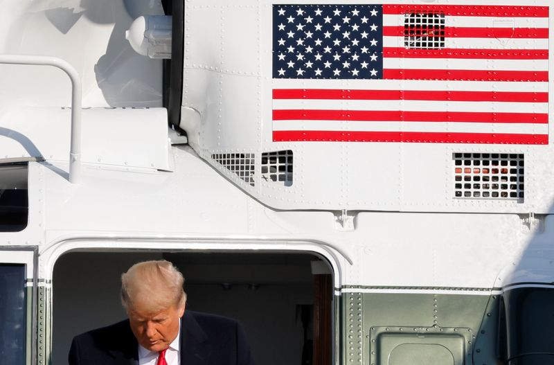 © Reuters. U.S. President Trump departs Washington on travel to Texas at Joint Base Andrews in Maryland
