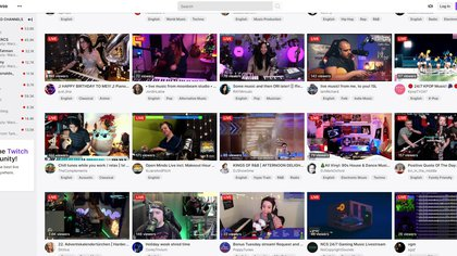 Screenshot of Twitch, turned into the new platform for artists to record and release their albums.  EFE / Javier Romualdo / Archive