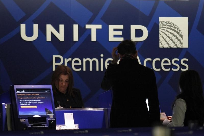 © Reuters.  United Airlines Holdings Earnings, Revenue miss in Q4