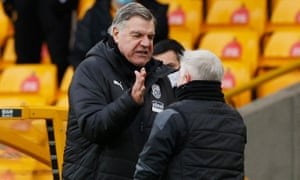 West Bromwich Albion manager Sam Allardyce and assistant coach Sammy Lee celebrate their win.