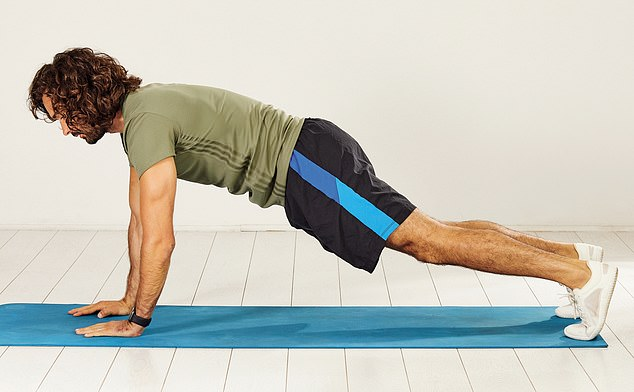 Push yourself up to the start position with one hand at a time and repeat the move as many times as you can