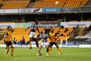 West Bromwich Albion's Semi Ajayi scores their second goal.