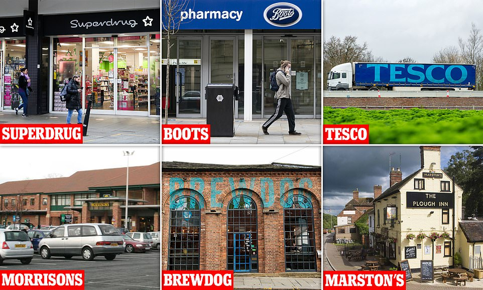 Superdrug and Boots are poised to start dishing out thousands of jabs next week, while car parks at supermarket Morrisons will be converted to drive-through vaccination centres from Monday. Meanwhile, Tesco has offered up its warehouses and lorries to help move doses quickly around the country and craft brewer BrewDog has claimed it's in talks with ministers about turning its closed bars into temporary jab hubs. Pub chains are also throwing their weight behind the rollout of the mass vaccination scheme to get life back to normal by spring, with firms such as Young's, Marston's and Loungers offering their venues as potential sites