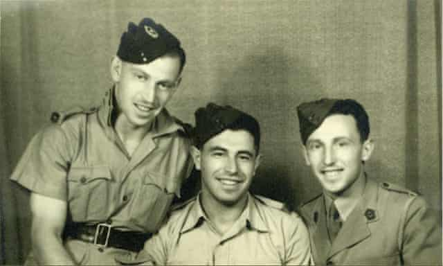 Rafael Behr's grandfather, Eric Rink (centre), with his brothers in 1946.