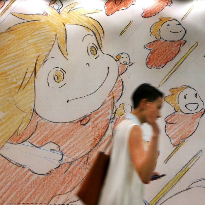 Exhibits at 'Studio Ghibli Layout Designs: Understanding the Secrets of Takahata and Miyazaki Animation', at Hong Kong Heritage Museum in 2014