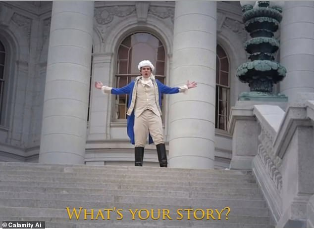 The system, named Calamity A.I, was fed 45TB of text data and then Elis Weiss, the human mastermind, entered one sentence: ¿Here are the lyrics to a new song from the hit musical Hamilton: An American Musical. 'What's your story' is the beginning of the chorus