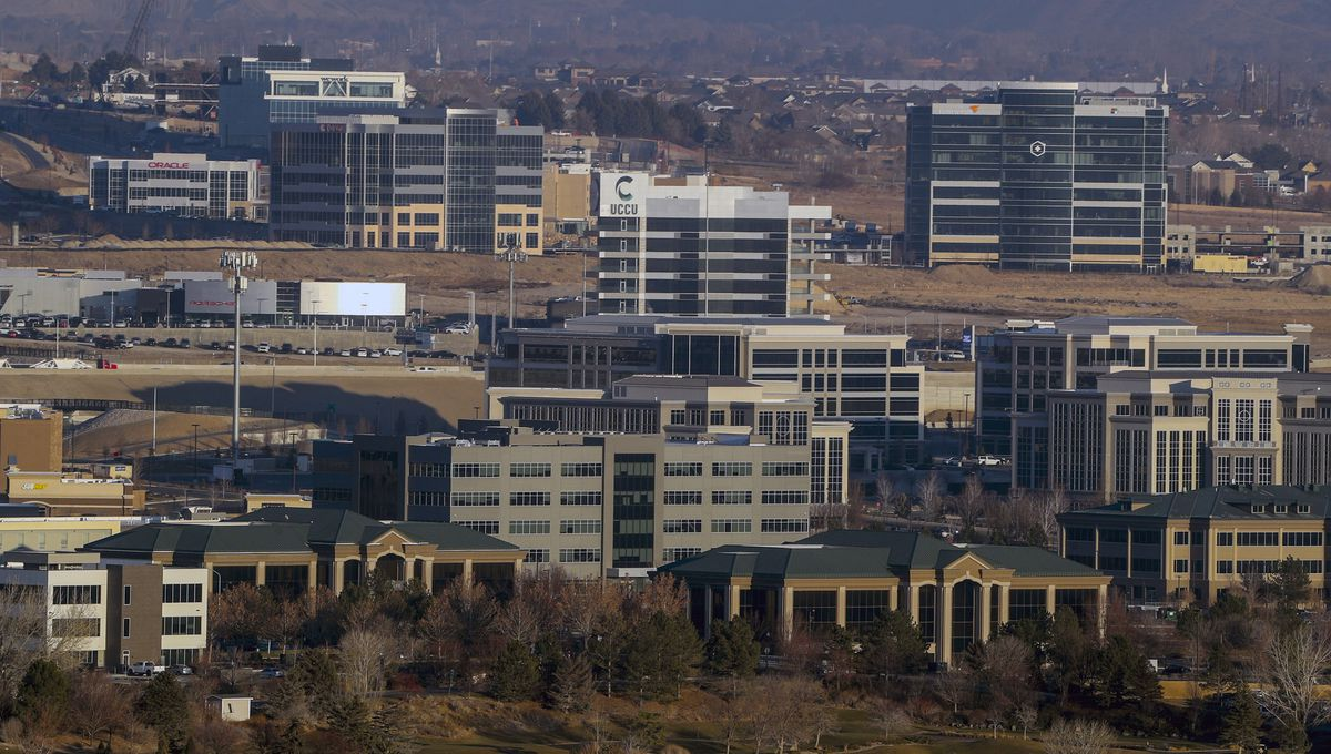 Office buildings in Lehi are pictured on Tuesday, Dec. 8, 2020.