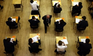 A pre-coronavirus file photo from 2012 of pupils sitting an exam.